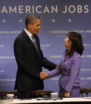 President Obama loves women entrepreneurs